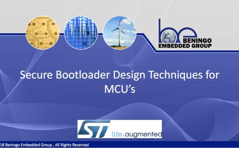 Webinar – Secure Bootloader Design Techniques for MCU's
